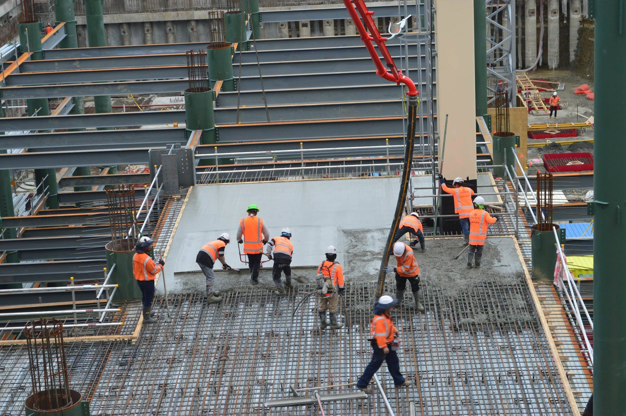 Construction workers in Auckland CBD